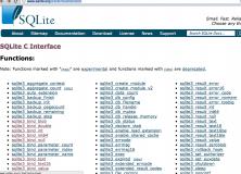 PowenKo > iOs > SQLite >Sqlite api listing