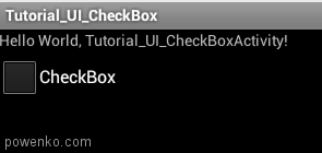Android > CheckBox