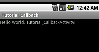 Android callback