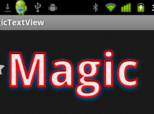 android  MagicTextView