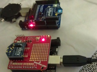 arduino xbee, send On /Off LED