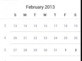 CalendarView
