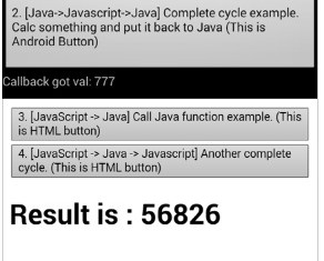 android call Javascript, and javascript call android